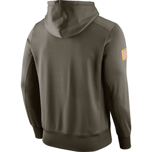 e3f998097 New York Jets Men s Nike Olive Salute to Service KO Performance Hoodie