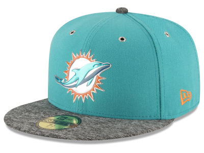 MIAMI DOLPHINS 2016 NFL DRAFT ON STAGE NEW ERA 59FIFTY CAP 89a7f1541b4