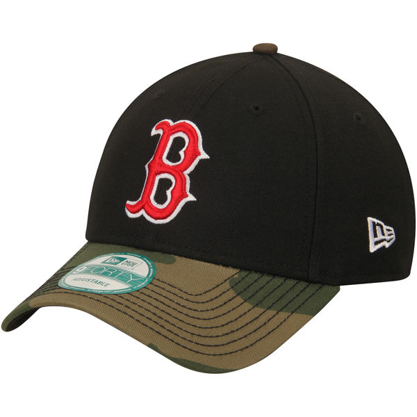 95427a89ab0 Boston Red Sox Men s New Era Black Camo The League 9FORTY Adjustable ...