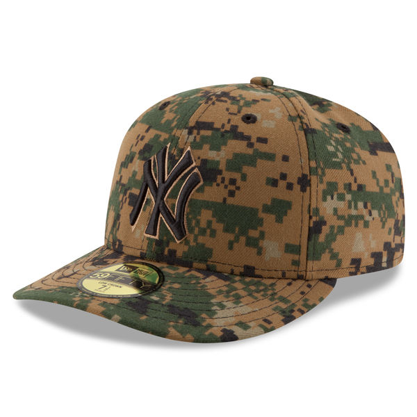 62ee2b5f523b4 NEW YORK YANKEES MEN S NEW ERA 2016 MEMORIAL DAY DIGITAL CAMO LOW CROWN  59FIFTY FITTED CAP