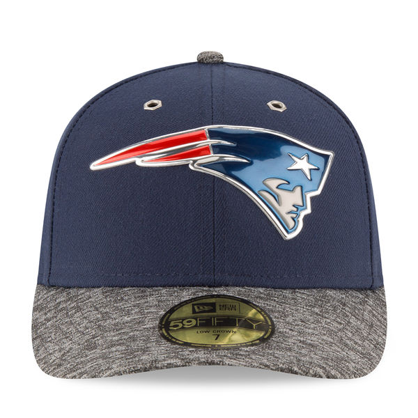 8867e44ca02721 New England Patriots Men's New Era Navy/Heather Gray 2016 NFL Draft On Stage  Low Profile 59FIFTY Fitted Hat