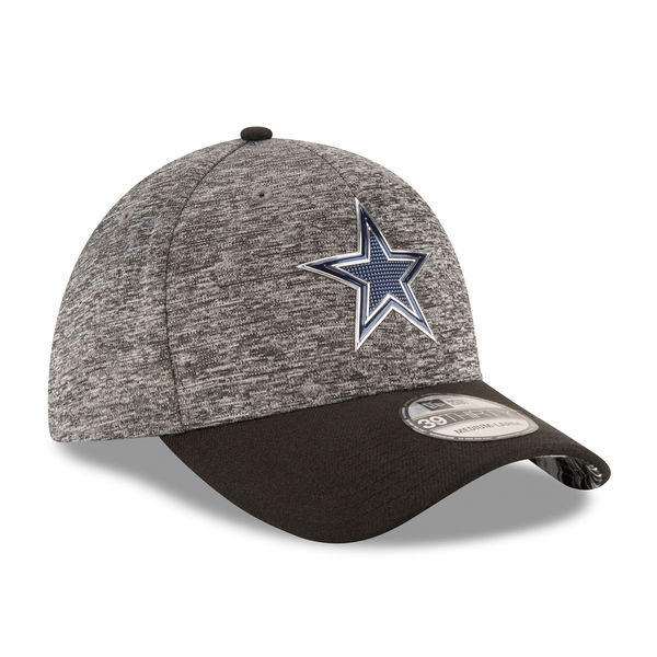3d9769b73ed Dallas Cowboys Men s New Era Heathered Gray Black 2016 NFL Draft Shadow  Tech 39THIRTY Flex Hat