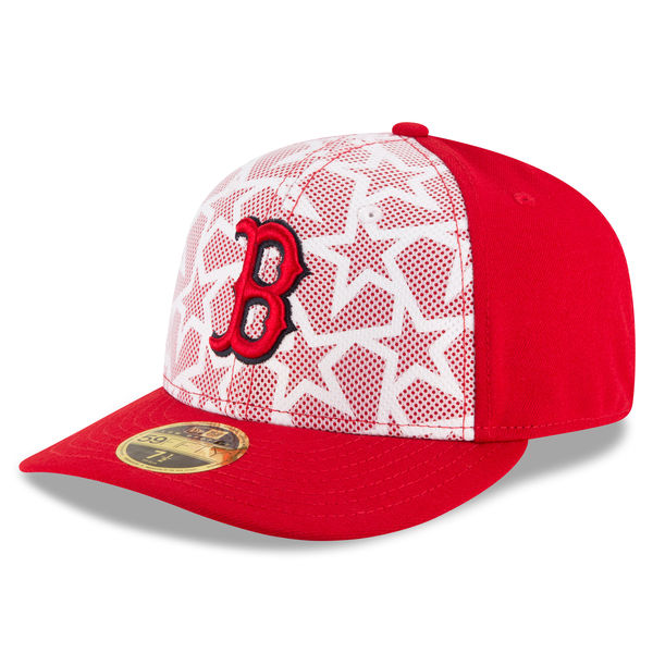 b4df17644cb89e Boston Red Sox Men's New Era White/Red Stars & Stripes Low Profile 59FIFTY  Fitted Hat