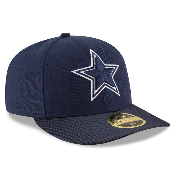 Dallas Cowboys New Era Navy 2016 Sideline Official Low Profile 59FIFTY  Fitted Hat ce6feae05690