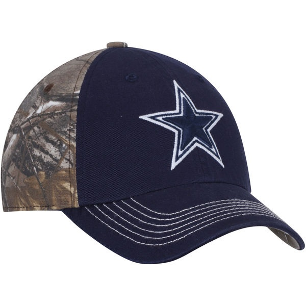 dacfc0bc57 Dallas Cowboys Men s Navy Realtree Camo Big Game Adjustable Hat
