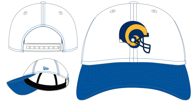 innovative design ce910 75300 ... discount los angeles rams 2tone nfl 4th down new era 9forty cap 1a3f8  b3b98