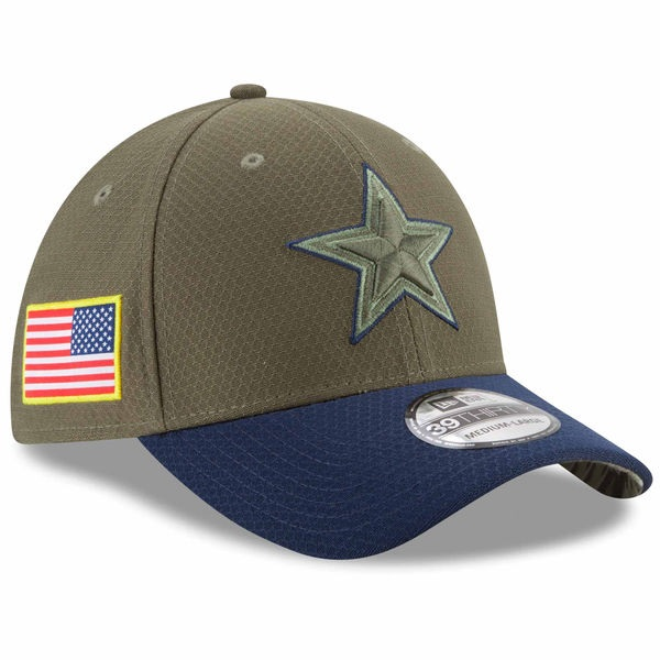DALLAS COWBOYS NEW ERA NFL ON-FIELD COLLECTION SALUTE TO SERVICE 39THIRTY  STRETCH FIT 31f921b0b