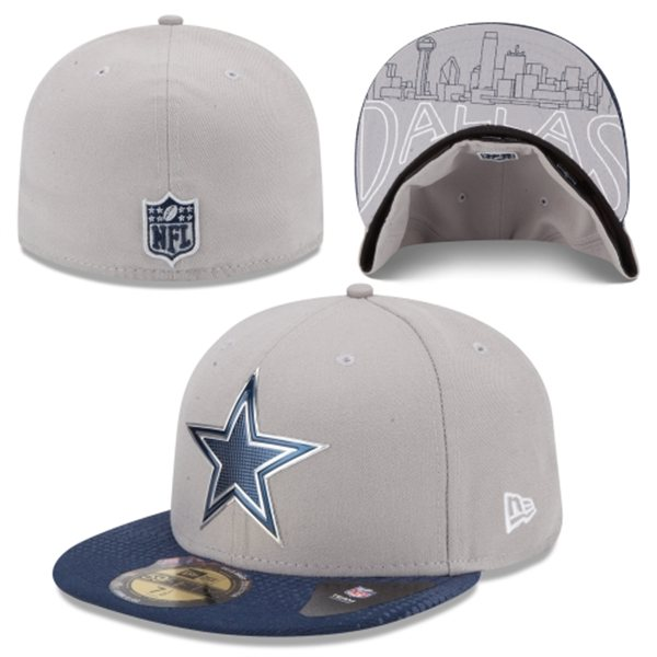 more photos 47ad4 5cd77 ... denmark dallas cowboys new era gray 2015 nfl draft 59fifty fitted hat  7c487 a3a60