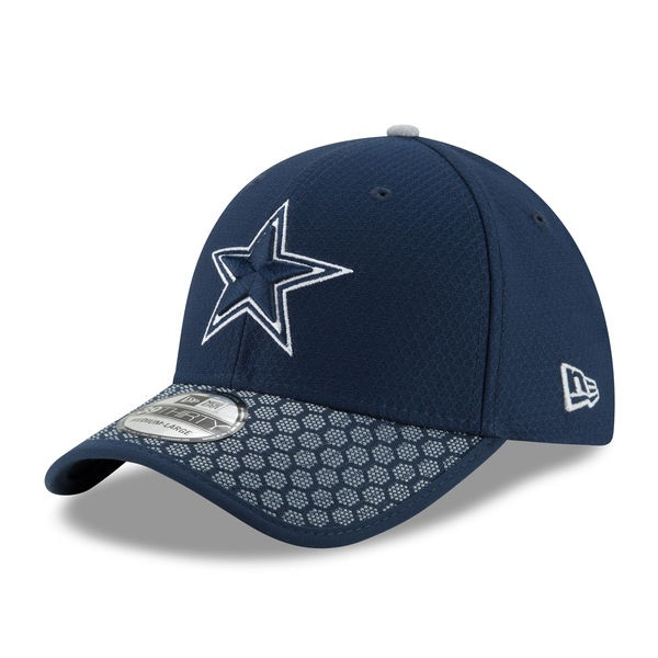 wholesale dealer 89a01 65737 Dallas Cowboys Men s New Era Navy 2017 Sideline Official 39THIRTY Flex Hat